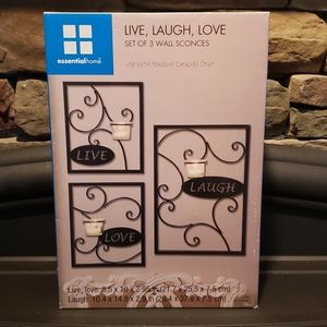 New Live, Laugh, Love Wall Sconces